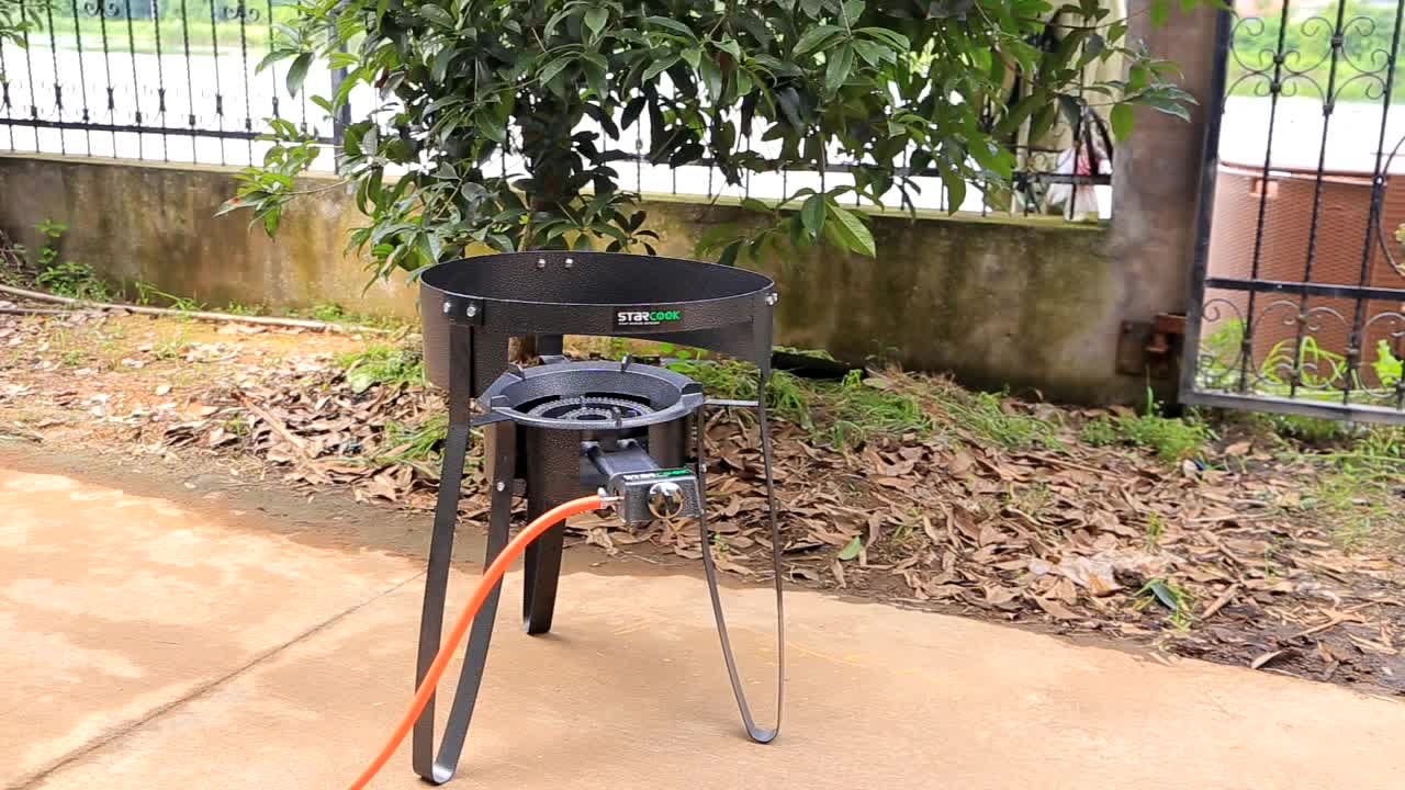 OUTDOOR CAMPING gas stove BBQ  with frame