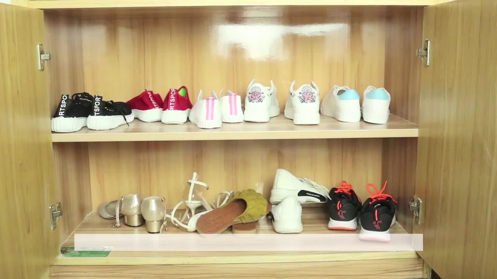 जूता स्लॉट अंतरिक्ष सेवर 10 Pcs पैक डबल परत जूता रैक अंतरिक्ष सेवर प्लास्टिक जूता स्लॉट आयोजक