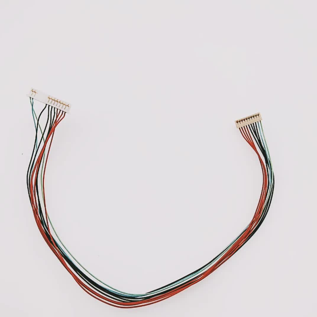 Crimping Connector 10pin Aces 91209-01011 to Molex 51021-1400 1571 28awg led backlight Wire Harness