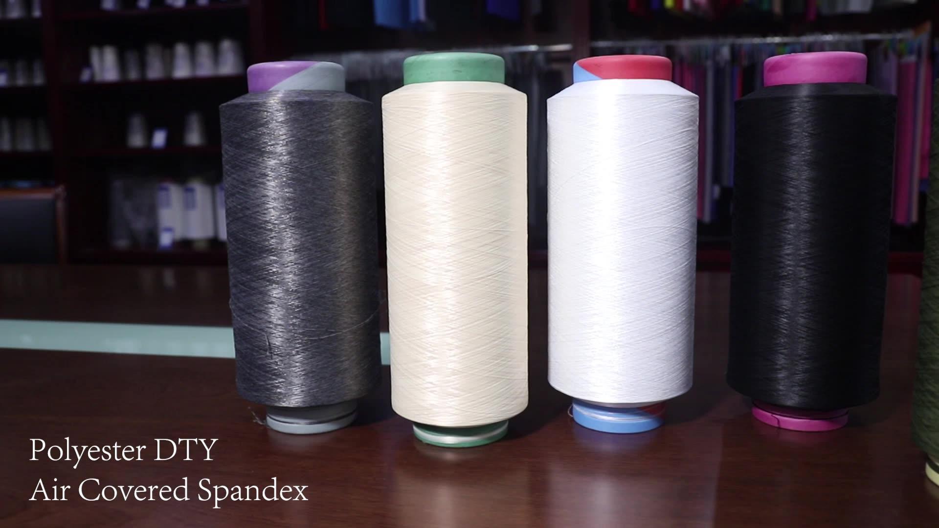 Hot koop hoge kwaliteit gerecycled gesponnen bulk 100 polyester garen markt in china