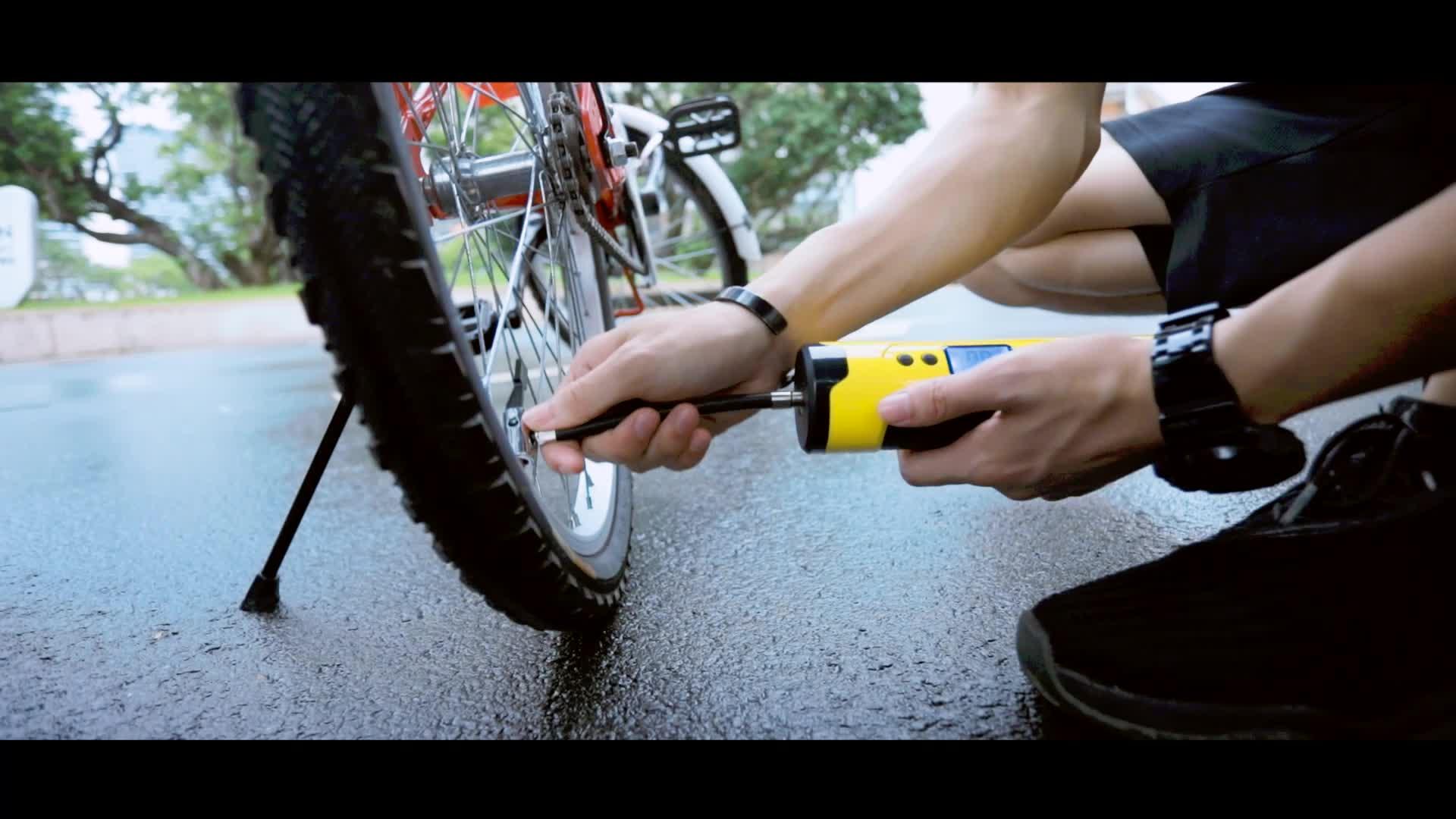 12v 150PSI DC Перезаряжаемые Электрический автоматический мини велосипед мотоцикл шины для легковых автомобилей воздушный насос
