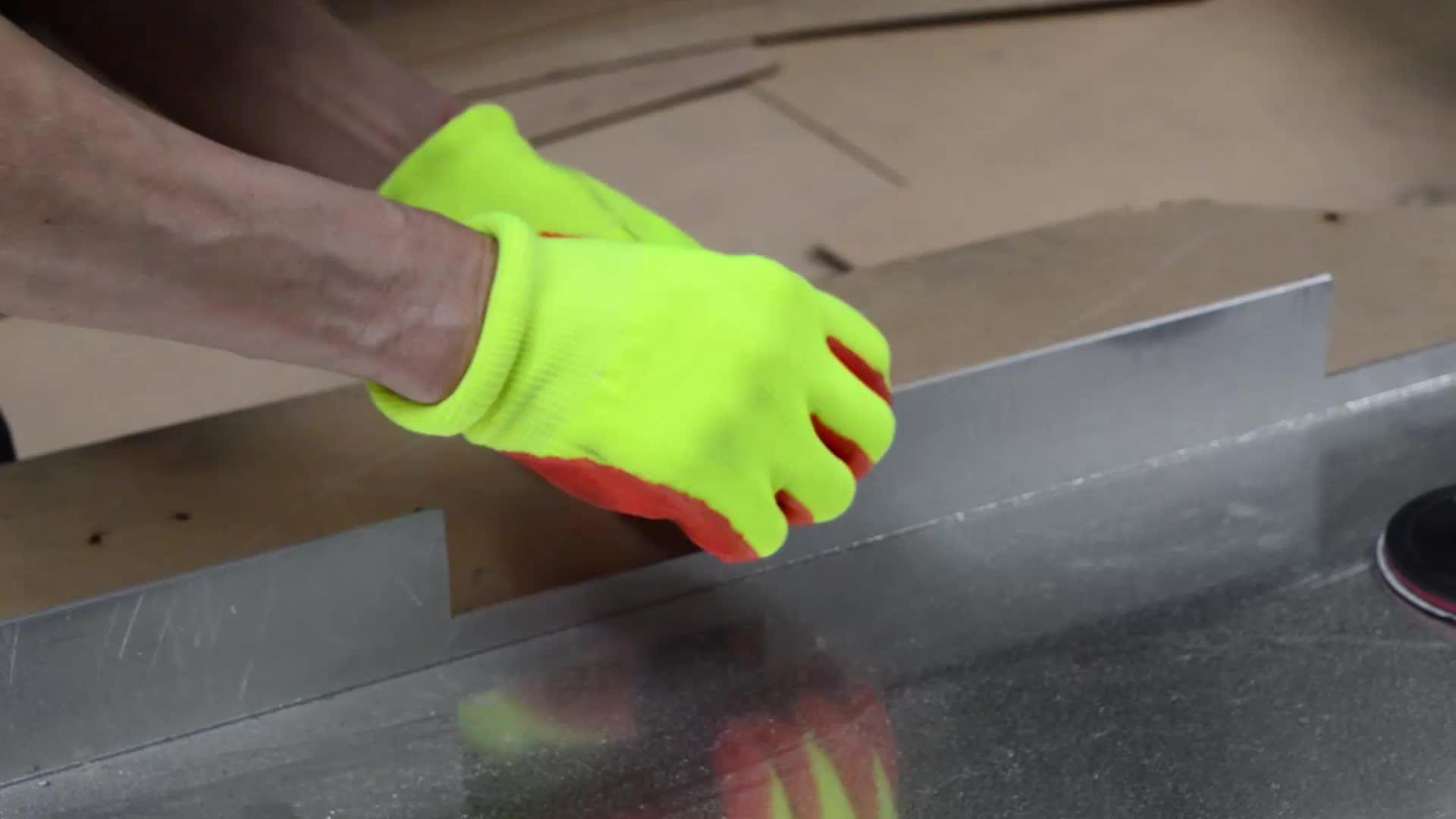Nitril latex beschichtet sicherheit arbeit handschuh für arbeits en388 4343 waschbar arbeit handschuhe