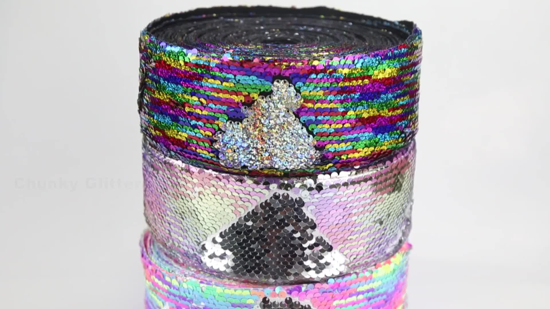 75mm 3 inç geri dönüşümlü pullu kumaş şerit