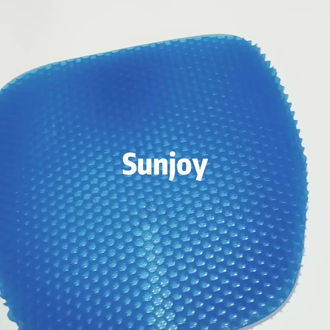 SJ-MSC29  43*42*2.5cm Custom Logo Accepted gel seat cushions cooling honeycomb gel seat cushion