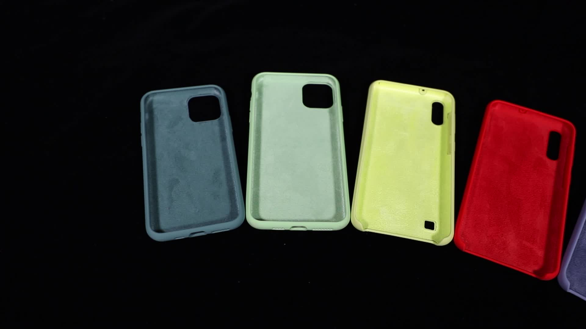 Custom wholesale soft Shockproof Thin Anti-knock Candy Color silicone phone case 2020 For iphone