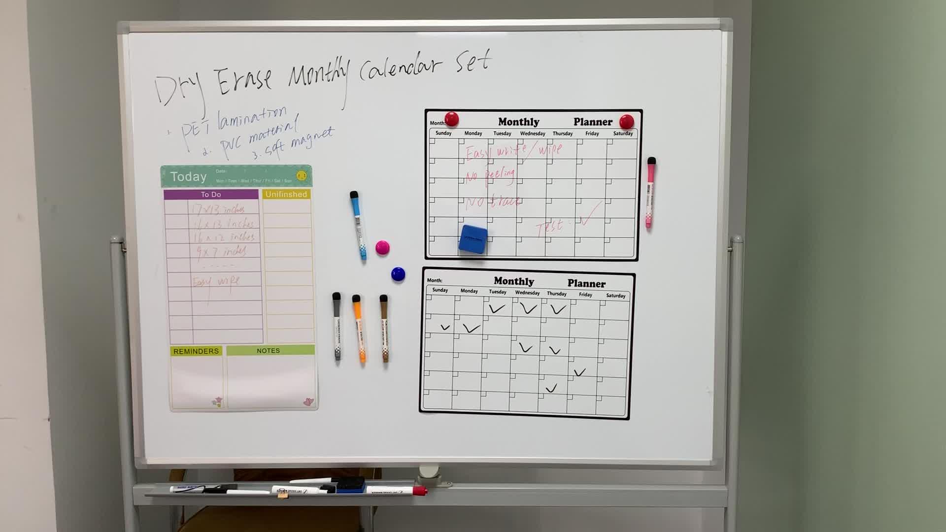 Kühlschrank Magnet Kalender Magnetische Trockenen Löschen Schreiben und Wischen Nachricht Bord