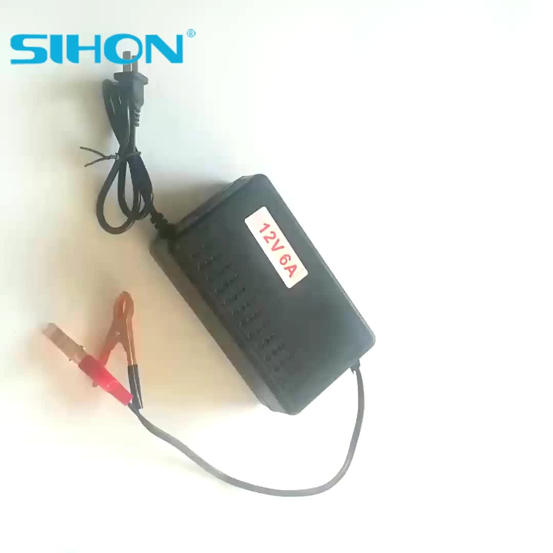 12V 6A Car Charger Sprayer Battery Charger With China Plug