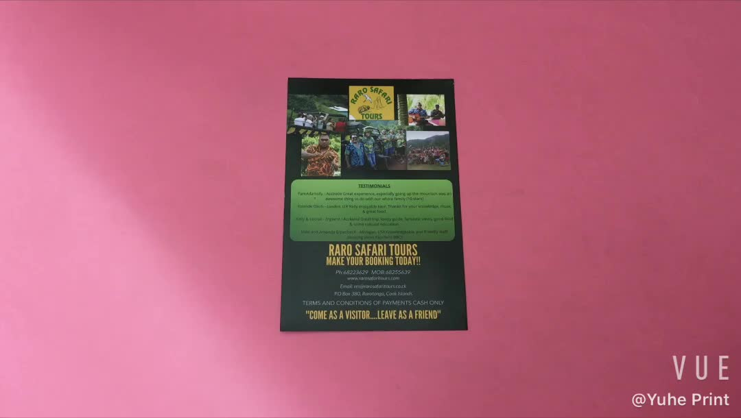 A2 A3 A4 A5 commercial poster / leaflet / flyer/menu printing