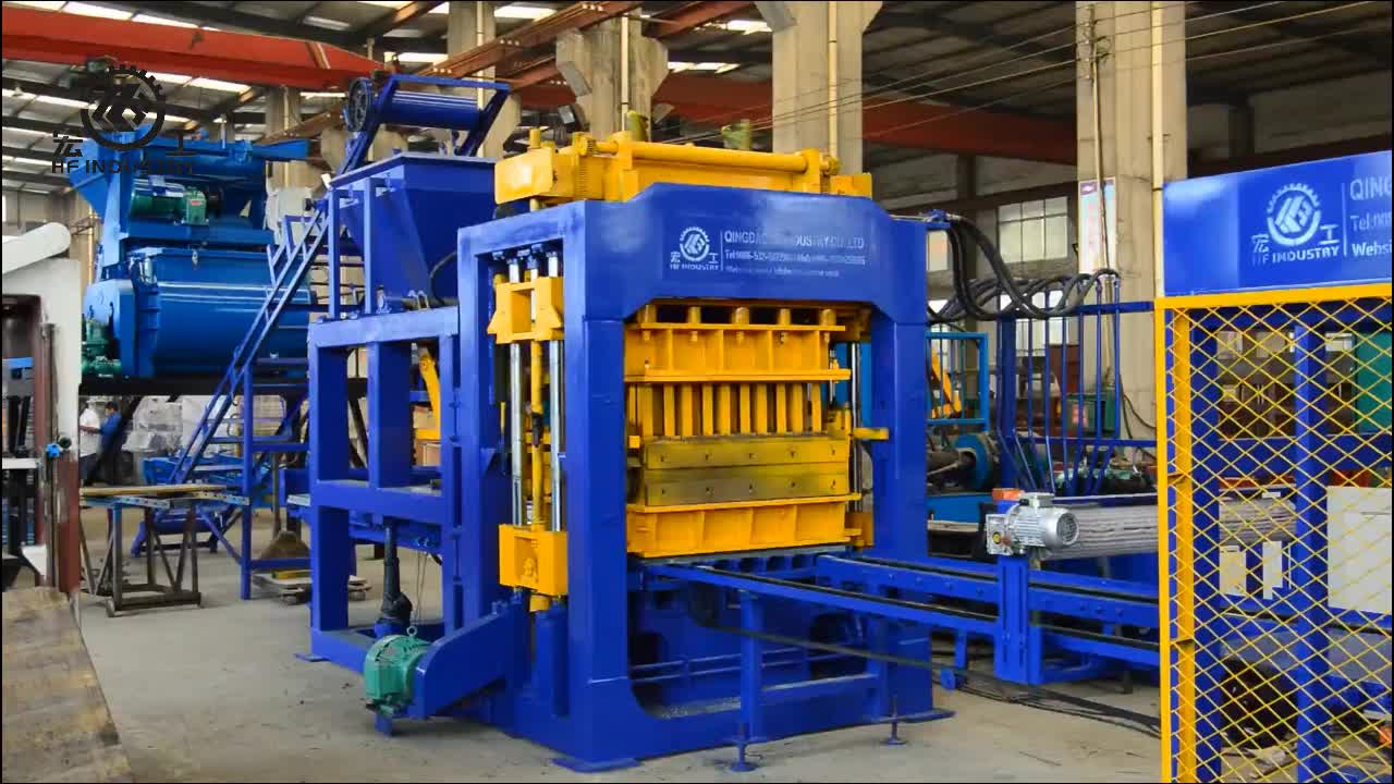 Qt12-15 Fully Automatic and Hydraulic Fly ash Cement Hollow Block / Brick Making Machine in South Africa