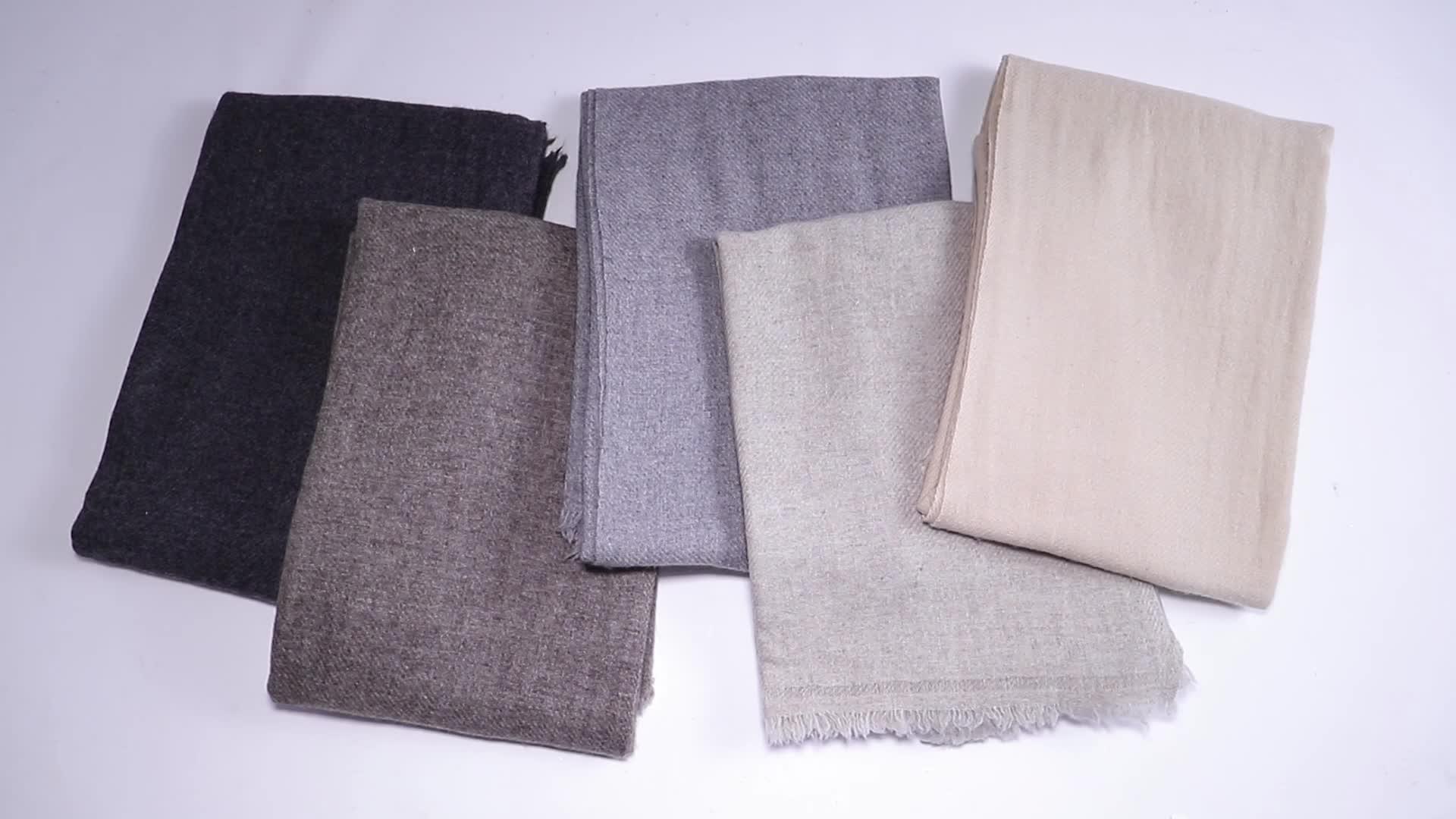 ネパールファッション手作りユニセックス純粋な原色自由ソフトカシミヤスカーフ