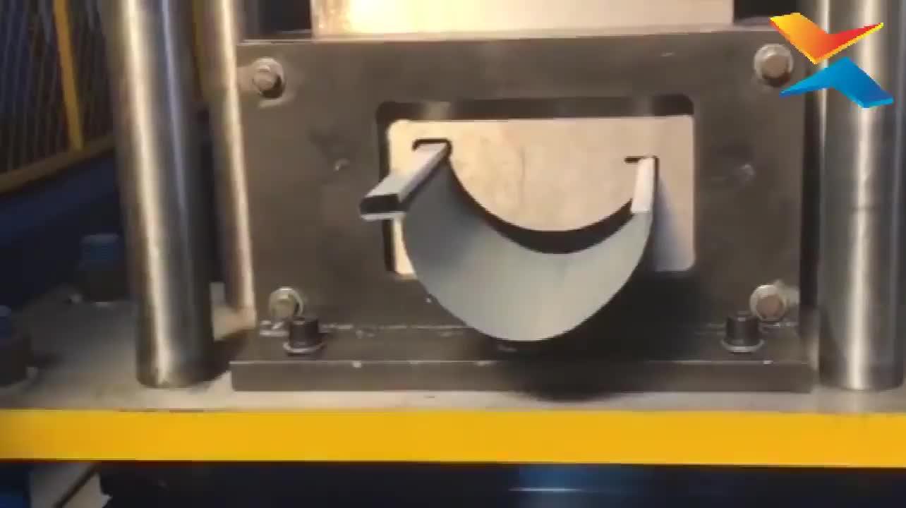 Profissional metade rodada água downpipe/sarjeta que faz a máquina com preço baixo