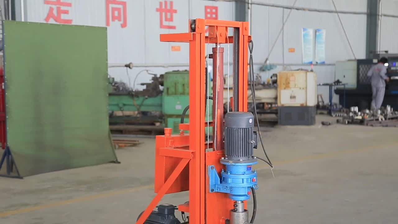 Widely used household water well drilling rig