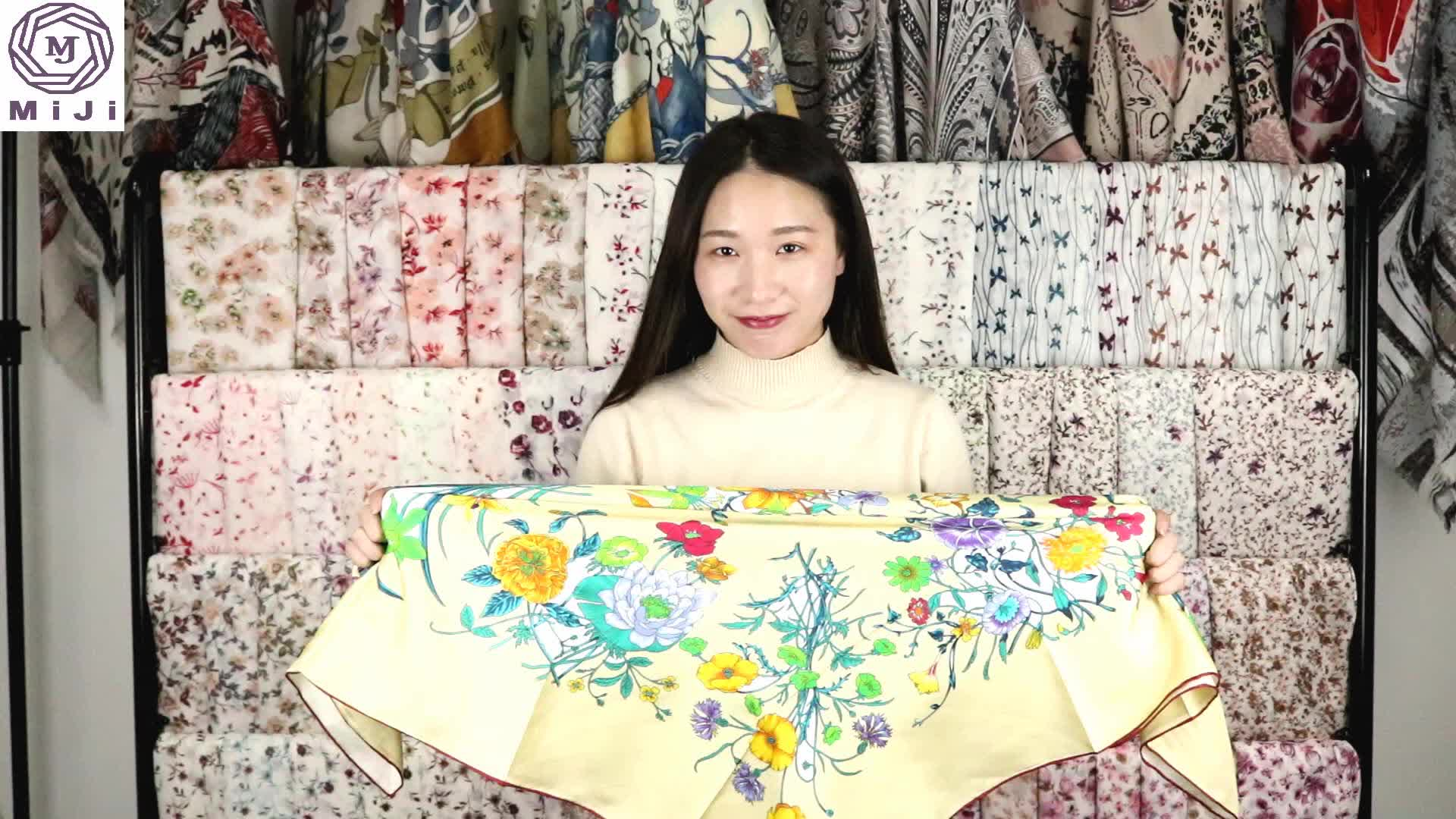 100% double sided silk scarf made in hangzhou