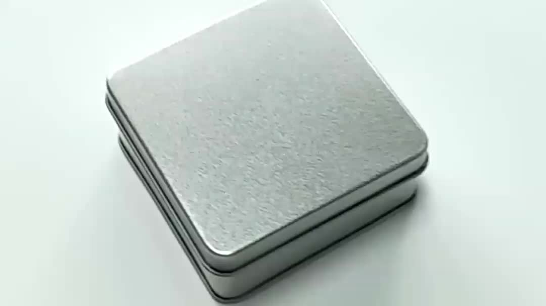 Colorful square metal boxes for soap