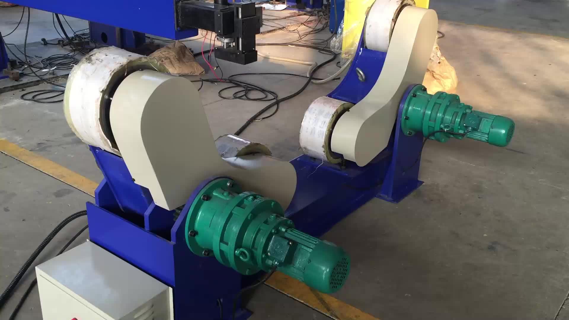 Hot sales self aligned 100 ton welding pipe roller