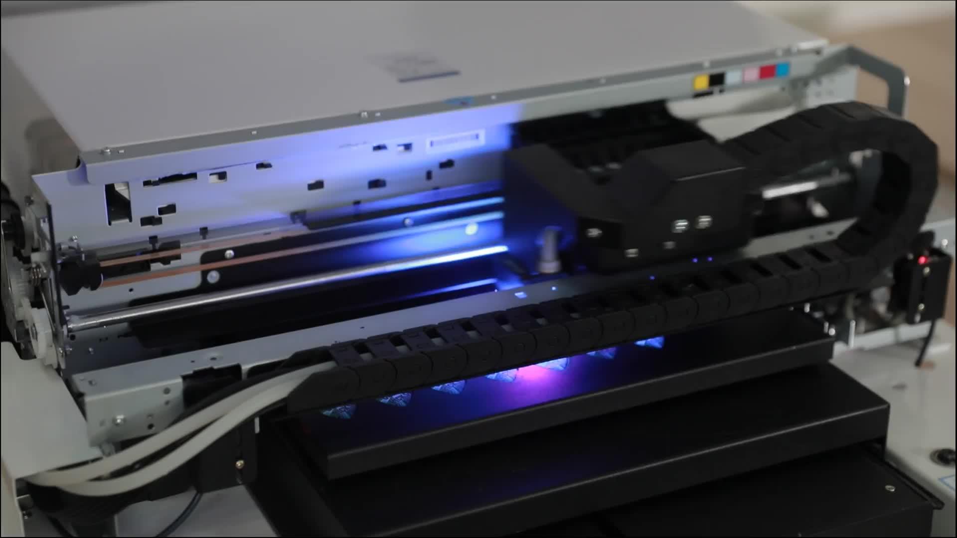 A3 UV À Plat Imprimante D'étiquettes Couleur pour Impression Étui de Téléphone