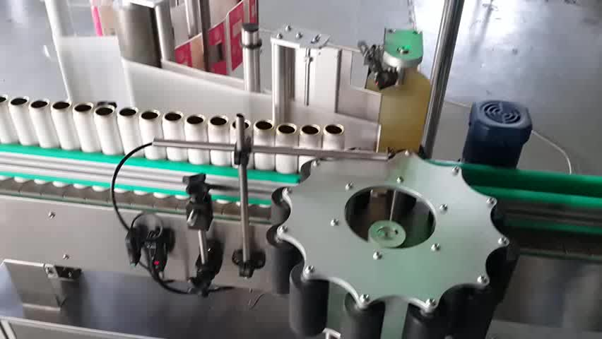 Round Bottle Fixed Point Position Adhesive Labeling Machine For Round Containers