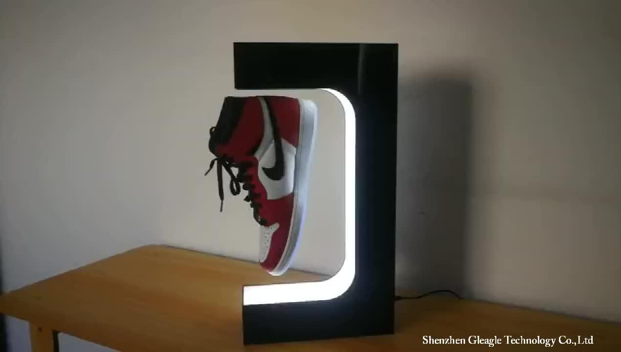 Acrylique forme Ronde base charge 500g lévitation magnétique cosmétique rotatif montre en métal chaussure pop up sac de téléphone rack