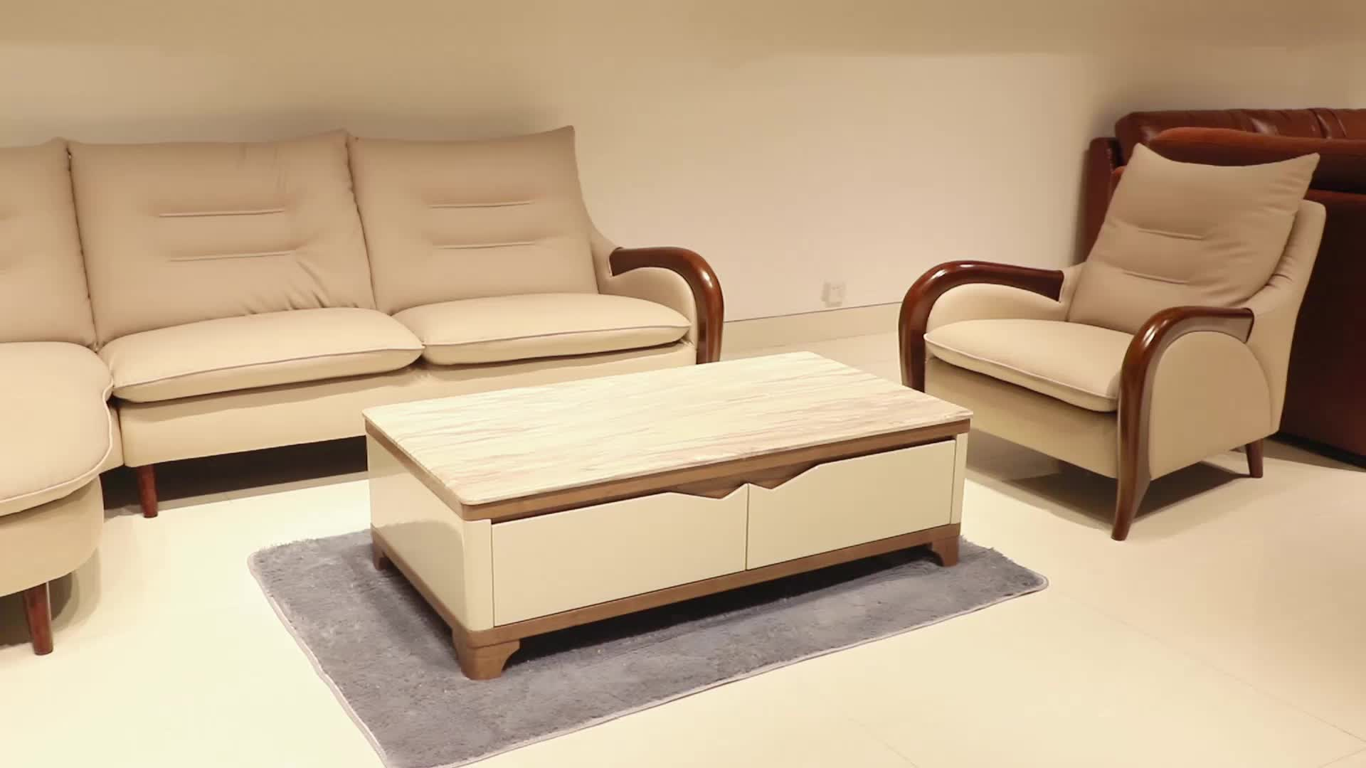 Wholesale Discount Modern Living Room Small Cheap Leather Sectional Sofa, Italian Leather Sectional Sofa