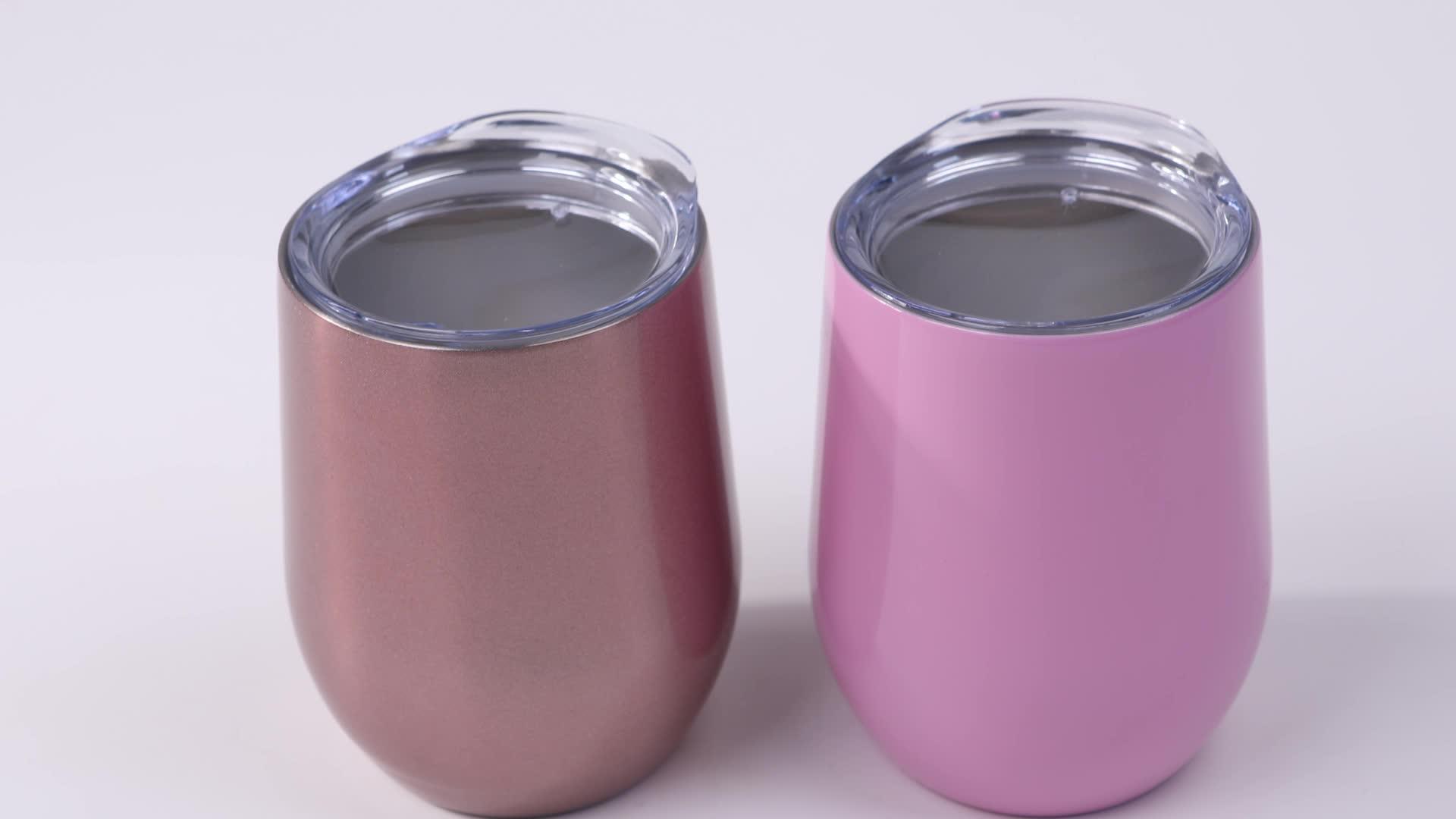 12Oz Wine Insulated Stainless Steel Coffee Tumbler Cup Mug