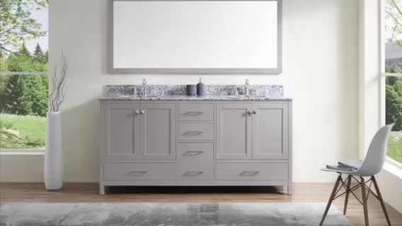 American Style Commercial Furniture Units Double Sink Bathroom