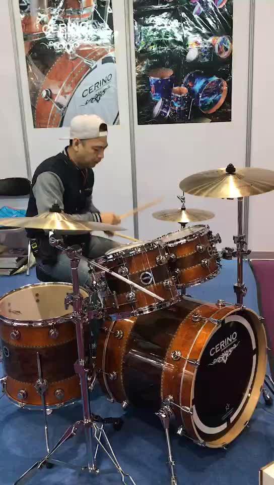 Klassieke acustic maple shell muziekinstrument lak professionele drum set