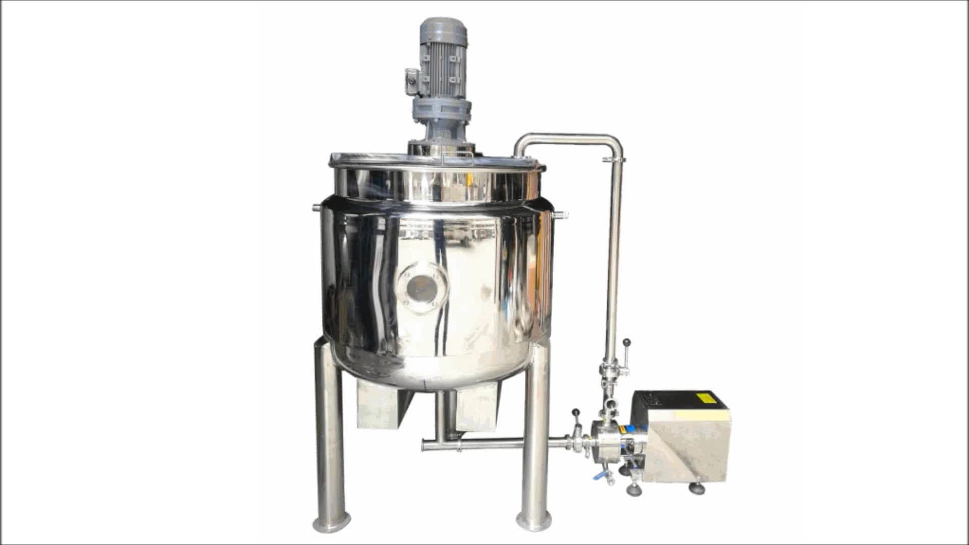 High quality stainless steel electric heating jacketed mixing tank 50 liter for sale