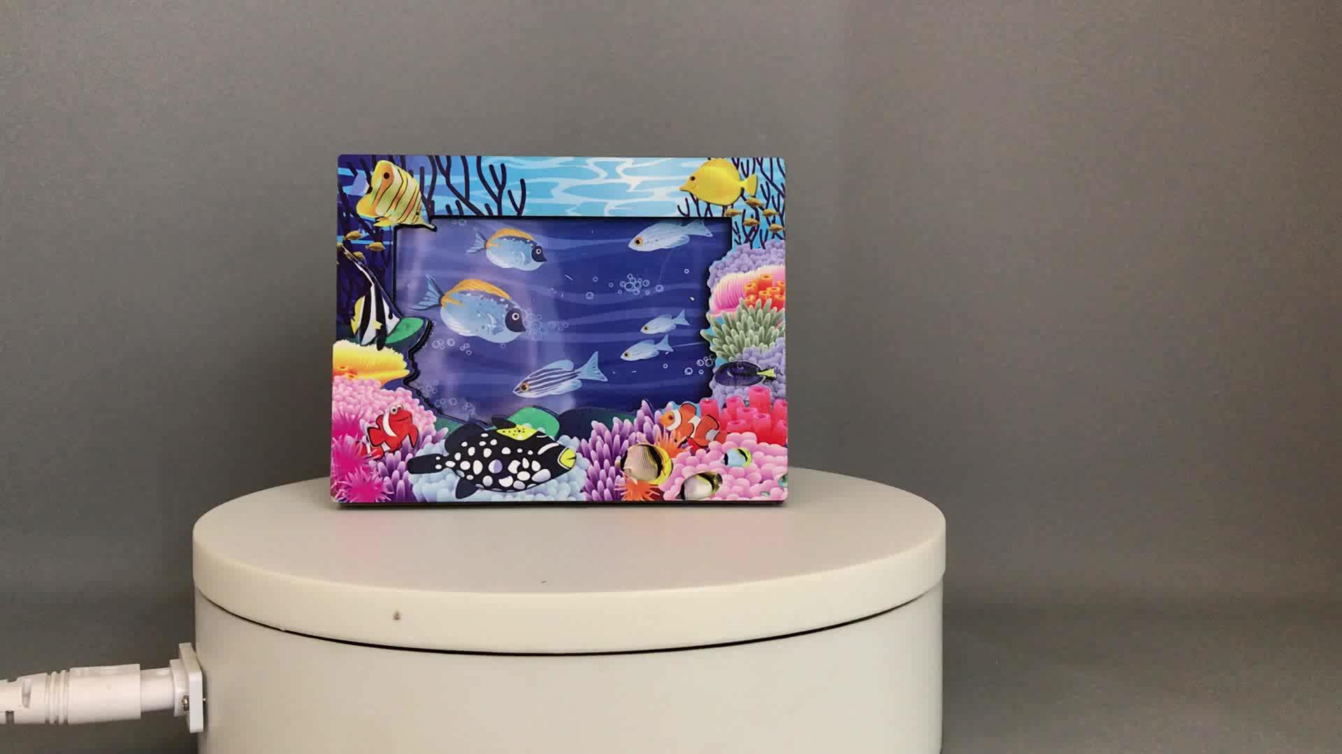 Tela de seda da impressão dos desenhos animados quadro photo frame por atacado