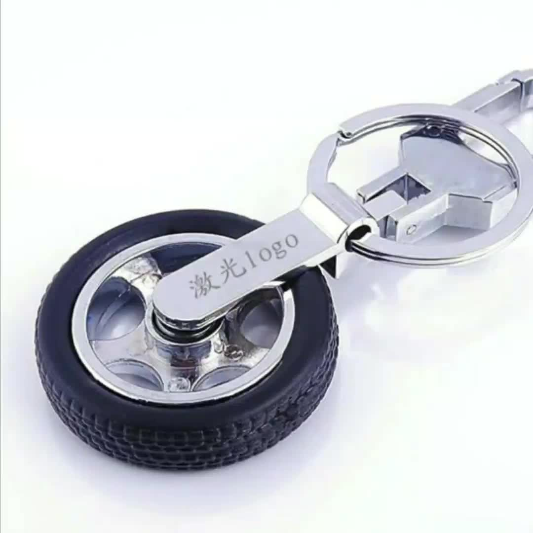 3D Metal Tyre Keychain / 3D Metal Tyre Key chain / 3D Metal Tyre Key ring