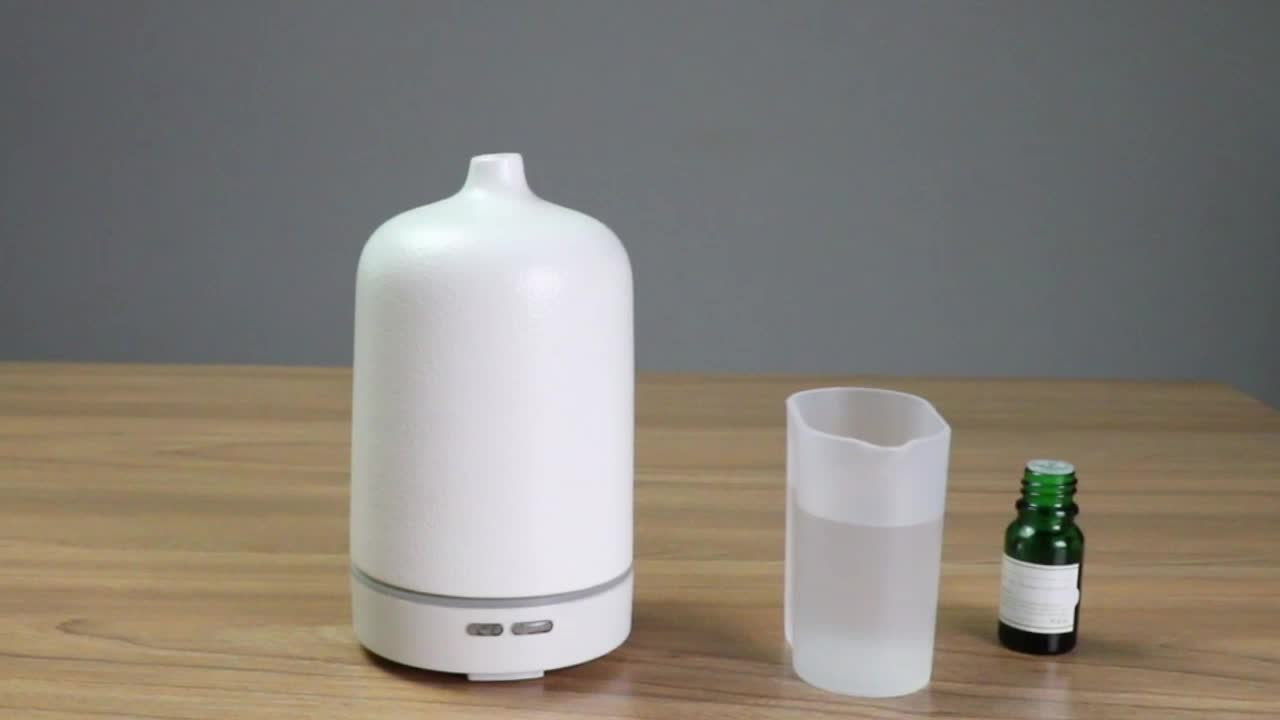 100ml aromatherapy ultrasonic fragrance air humidifier white ceramic electric aroma diffuser