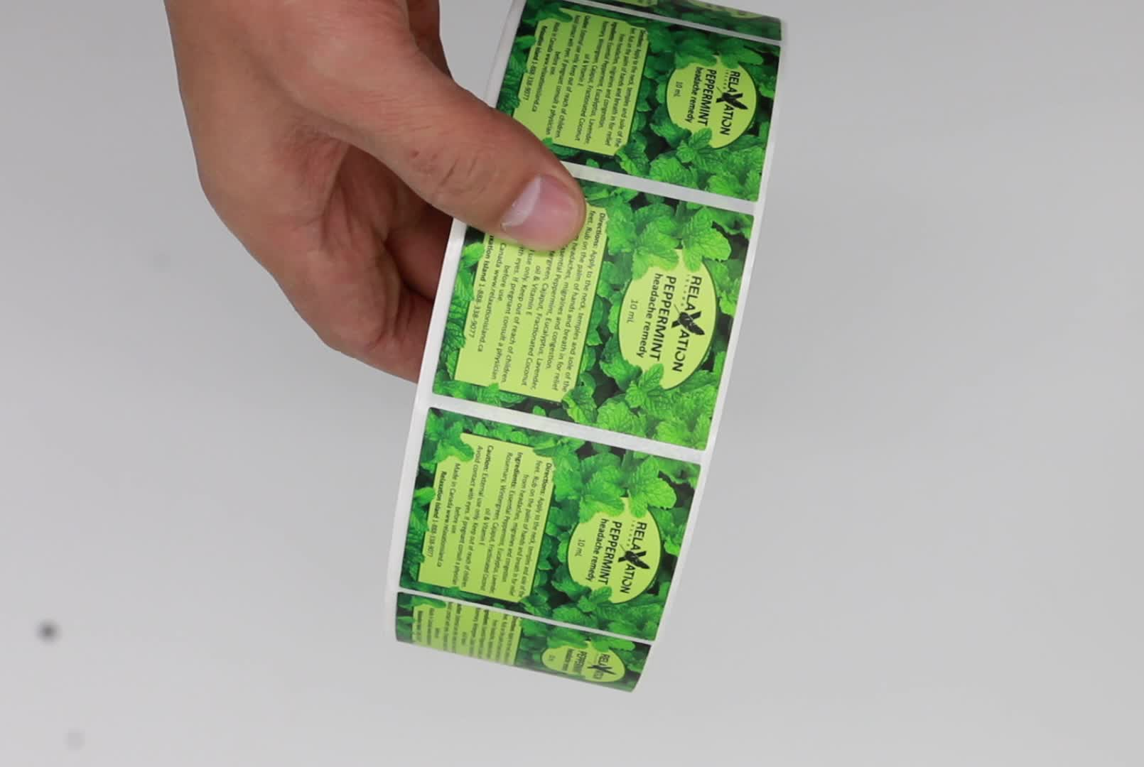 Hochwertige Selbst Klebe Vinyl Aufkleber Label, Nach Etiketten Rolle Druck Etiketten