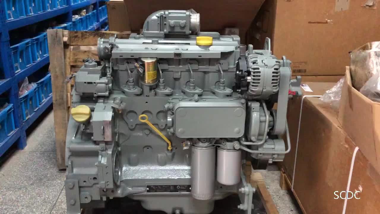 Hot Sale Deutz 4 cylinders 74.9KW 98KW Re-con BF4M2012 machine engine