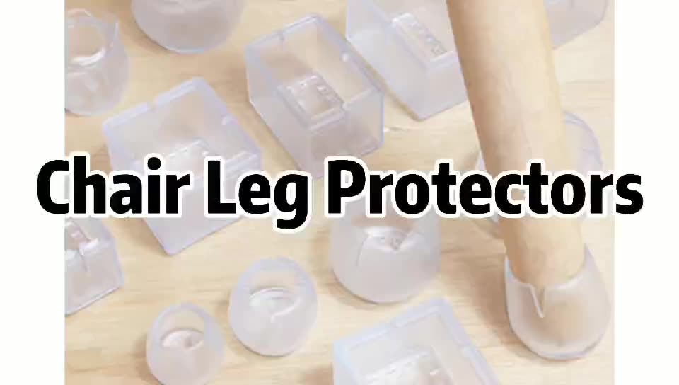 TOCO Chair Legs Cups Rubber Floor Table Clear Plastic Silicone Cover Furniture Protectors