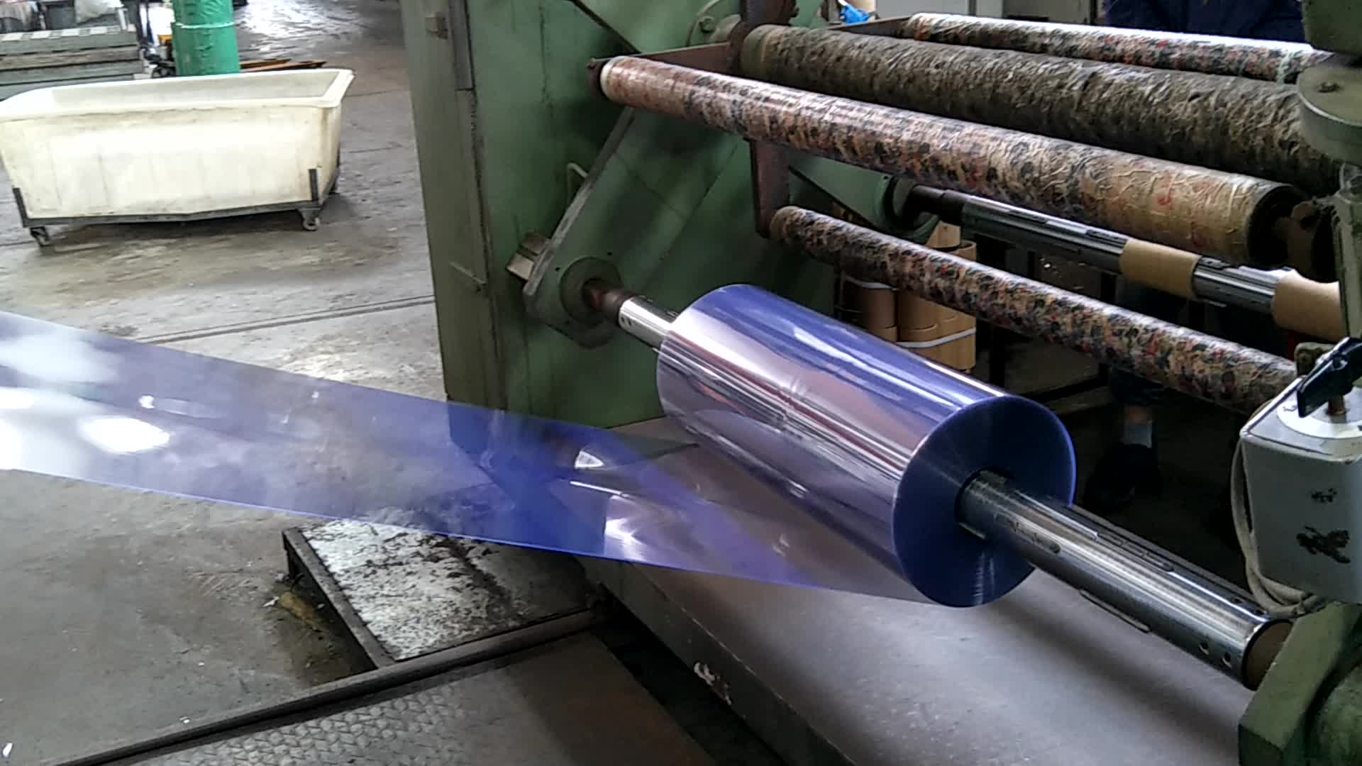 Clear 반-rigid PVC 롤 i 막 0.15 미리메터 비닐 sheet
