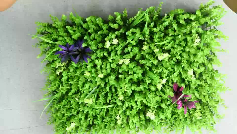 Factory direct sale 60cm*40cm artificial green plants wall for vertical grass