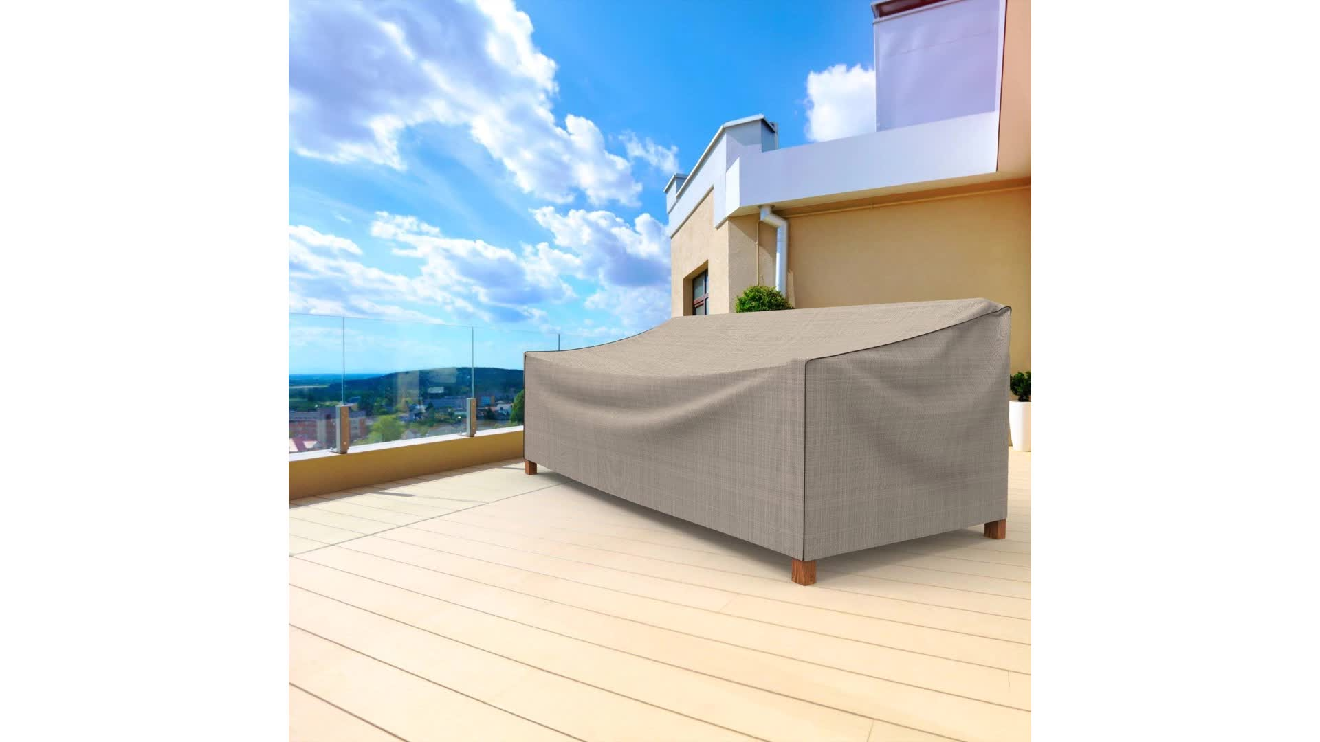 High quality OEM service patio furniture cover, waterproof outdoor sofa cover