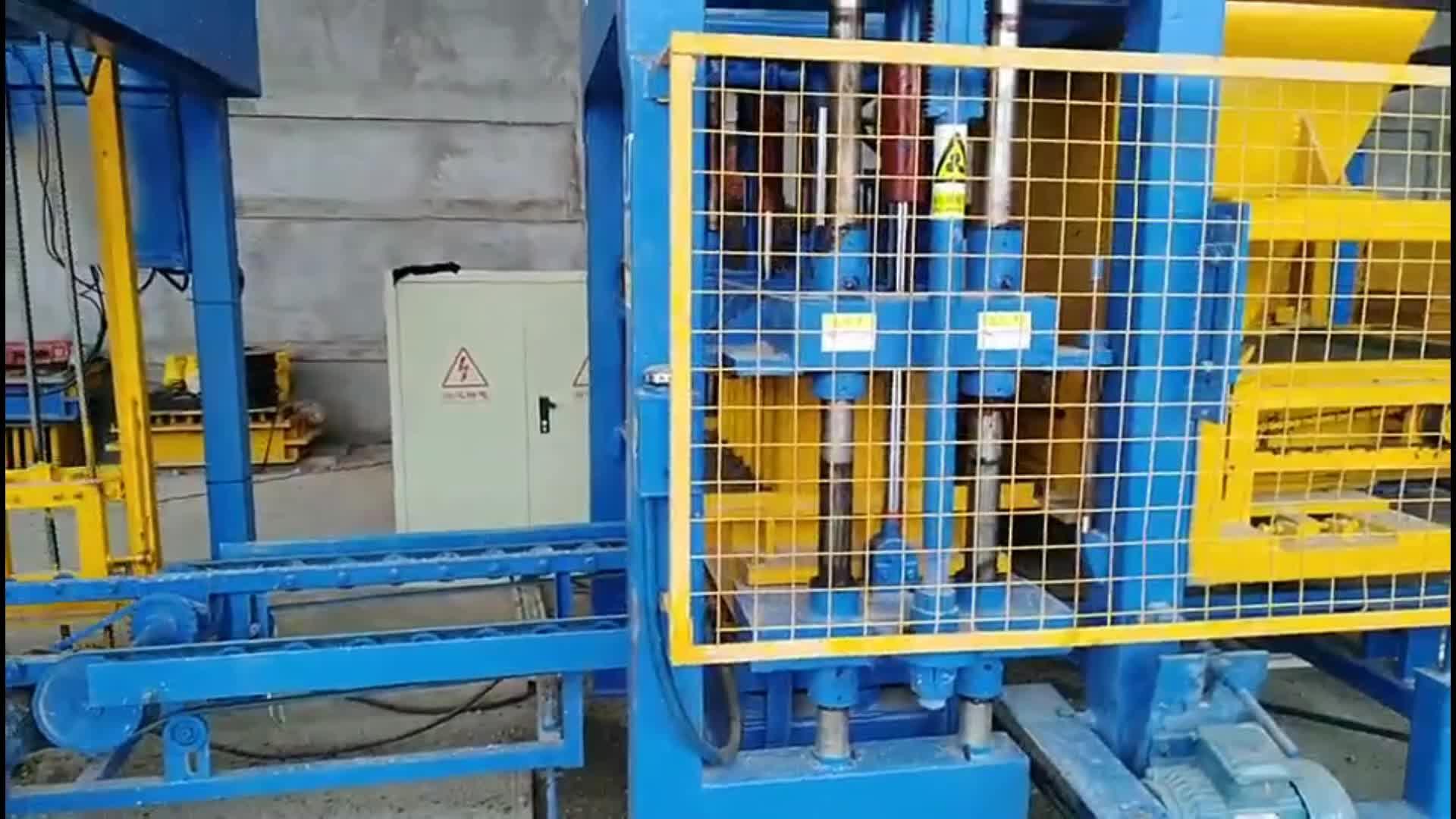 자동 콘크리트 블록 기계 qt415 콘크리트 블록 기계 할로윈 및 솔리드