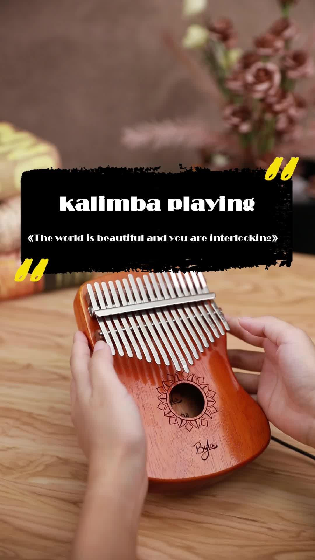 אחד אורגני מבנה כלי נגינה calimbero 17 מפתחות אגודל פסנתרים terapêuticos musicais