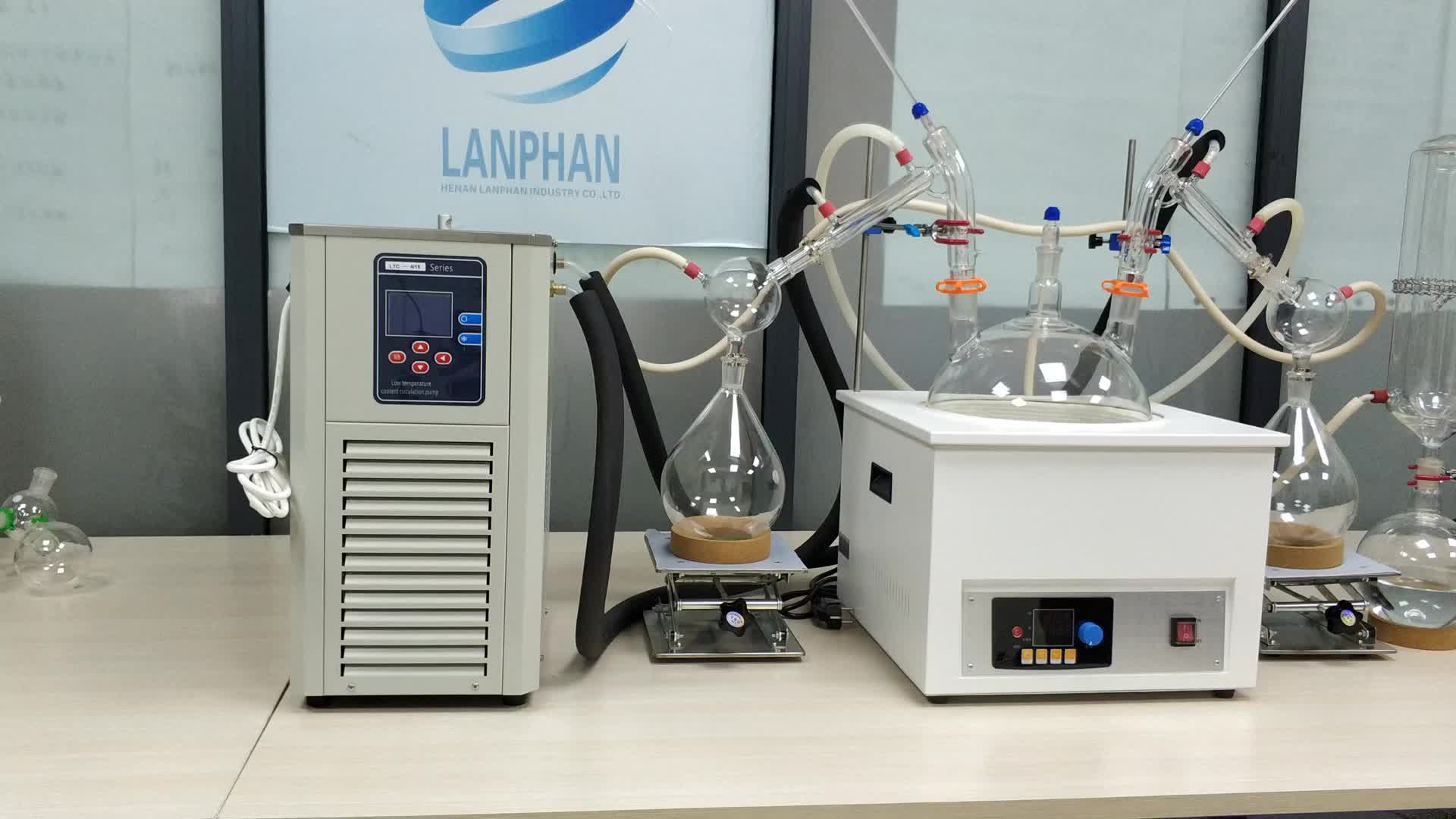 Yhchem Système 10L Évaporateur Rotatif Sous Vide à Court Trajet Distillateur