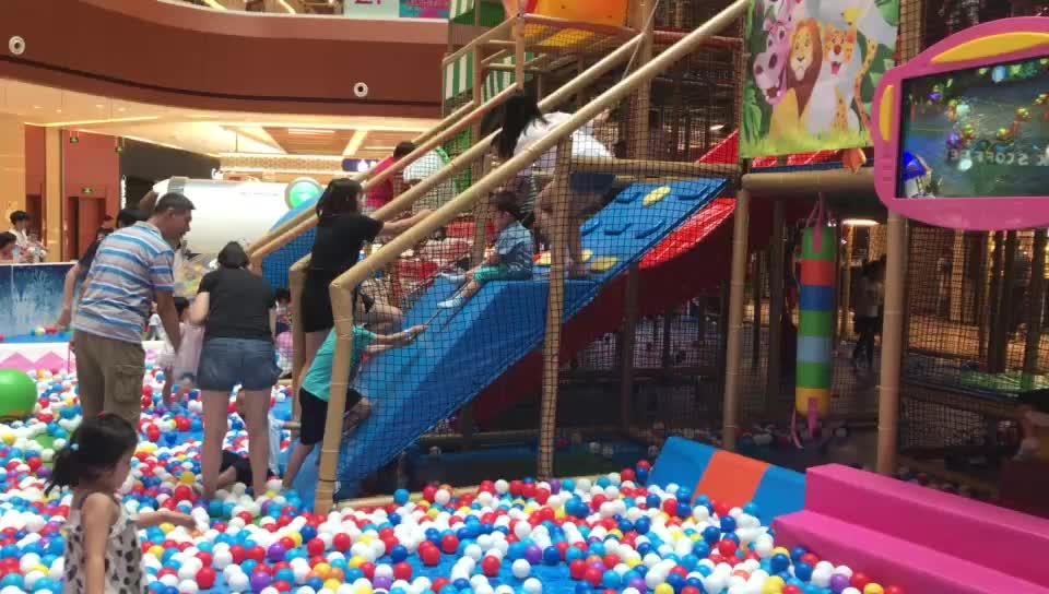 Indoor Speeltuin Voor Kinderen, Indoor Kids Speeltuin Zachte Apparatuur 120 Vierkante Meter