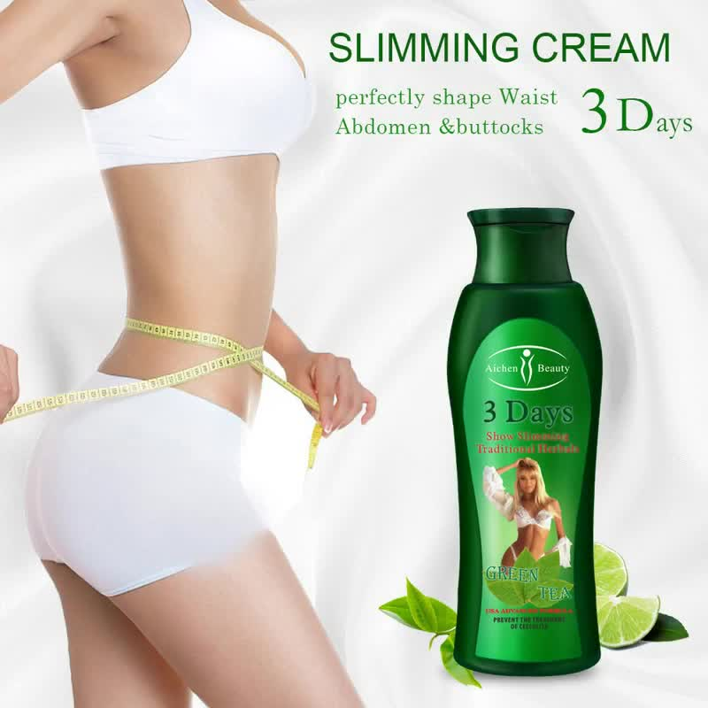 Aichun Beauty herbals green tea fat burning lose weight stomach  3 days body slimming cream