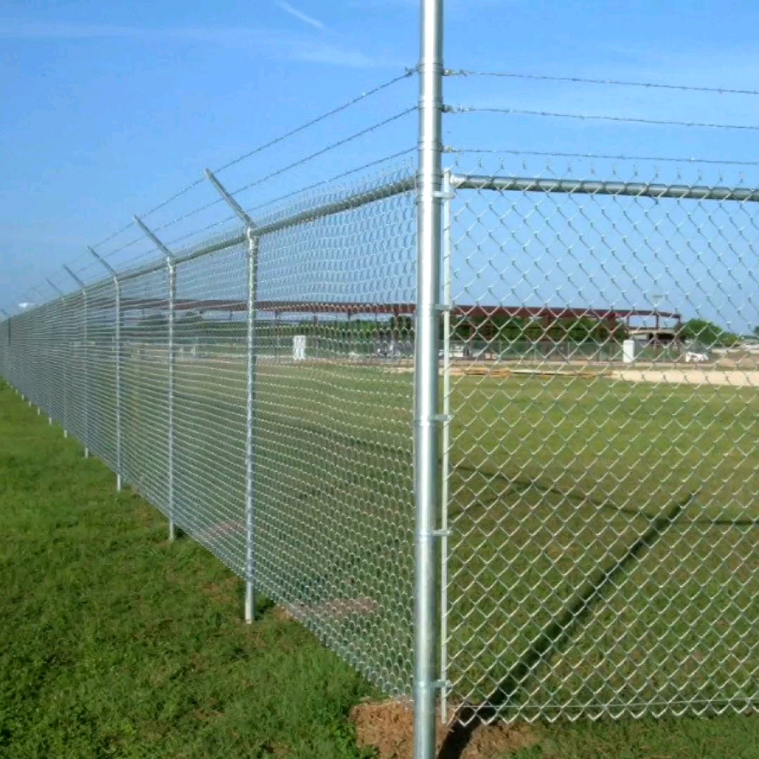 "9 gauge 6ft 8ft used galvanized and PVC diamond chain link mefence rolls price for sale / cyclone wire2x2"" hole chain link fence"
