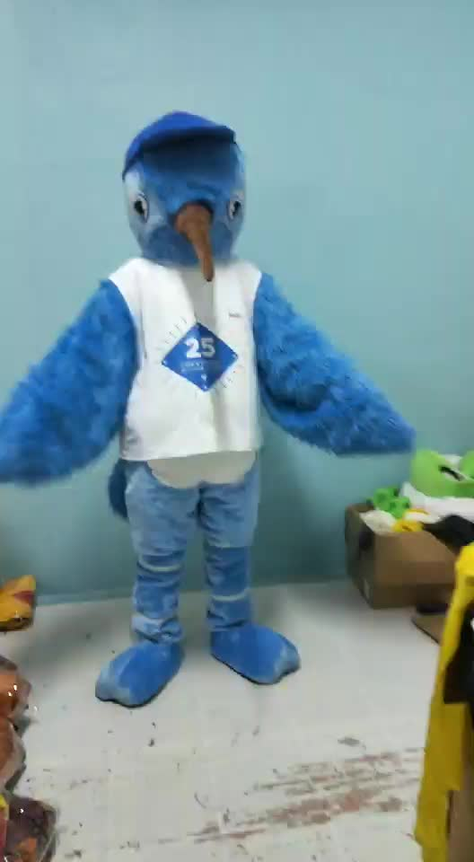 New design!!!HI EN71 blue customized bird mascot costume,animal mascot costume for adult size