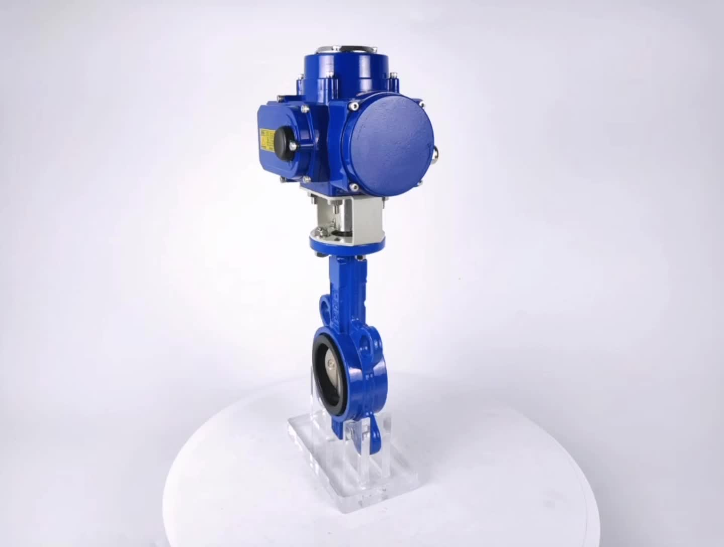 China PTFE electric WCB disc wafer type butterfly valve