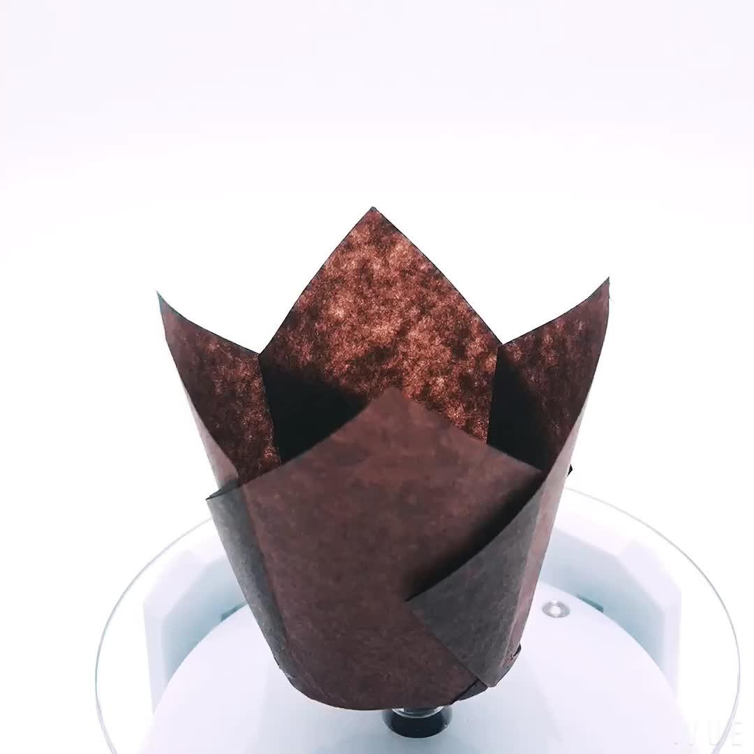 Amazon heißer verkauf Europa pergament papier tulpe papier muffin backen tasse