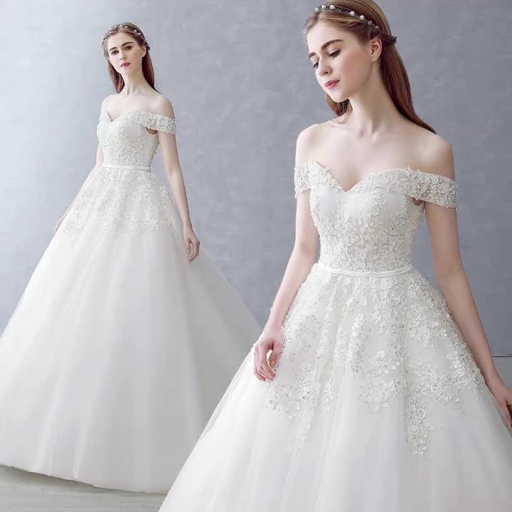 Off-Shoulder Mermaid 2019 Wedding Dress Bridal Gown sexy new design
