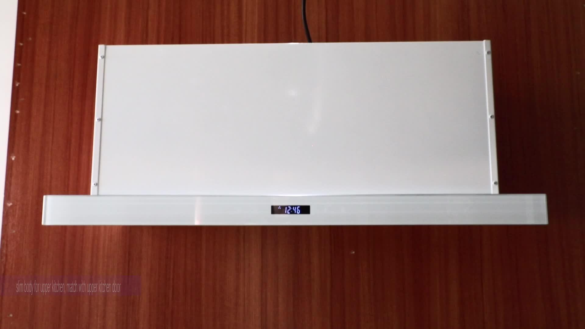 Diapositivas de capucha de electrodomésticos de cocina 60CM industria cooker hood