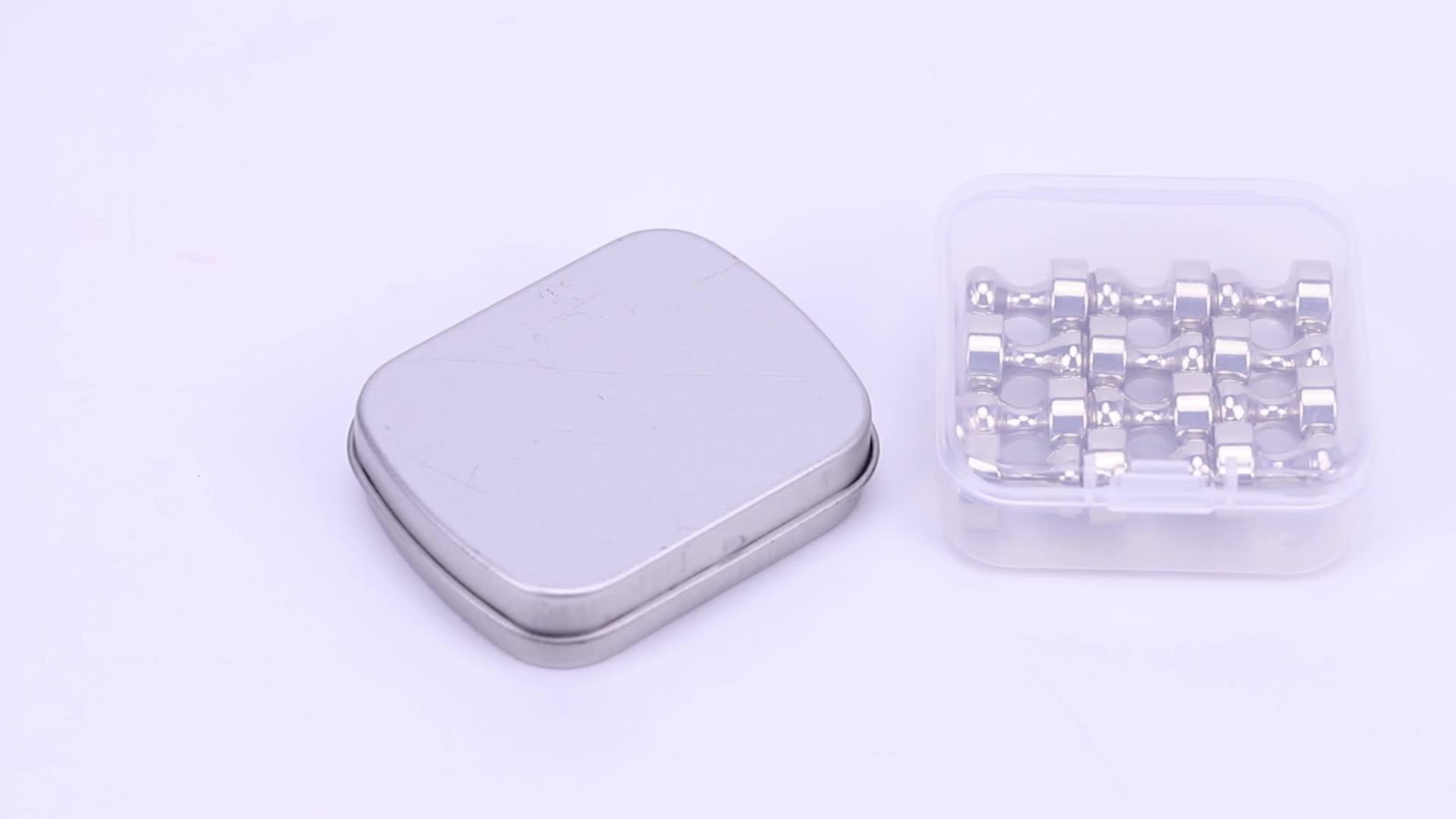 Diy 12 Pack, 24 Pack Combinatie Magneet Pins/Metalen Magnetische Bol Vorm Push Pins Magneten