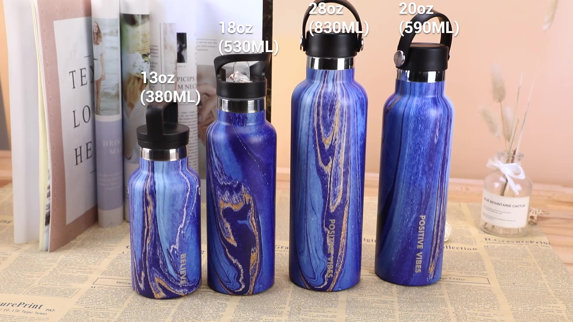 Wholesale 18/8 Sports Water Bottles Stainless Steel Custom Thermal Water Bottle for Hiking