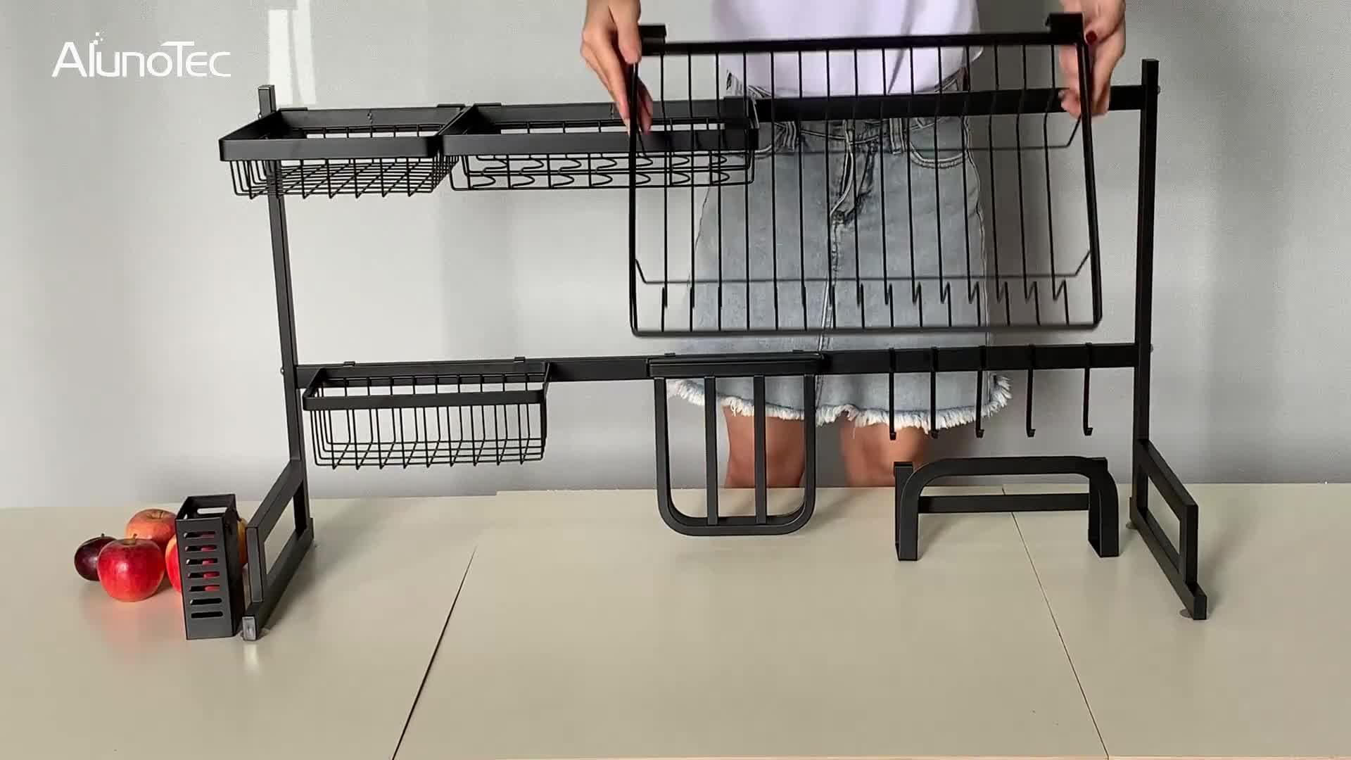 アンチスキッド 95 センチメートルキッチン収納食器食器棚ステンレス鋼